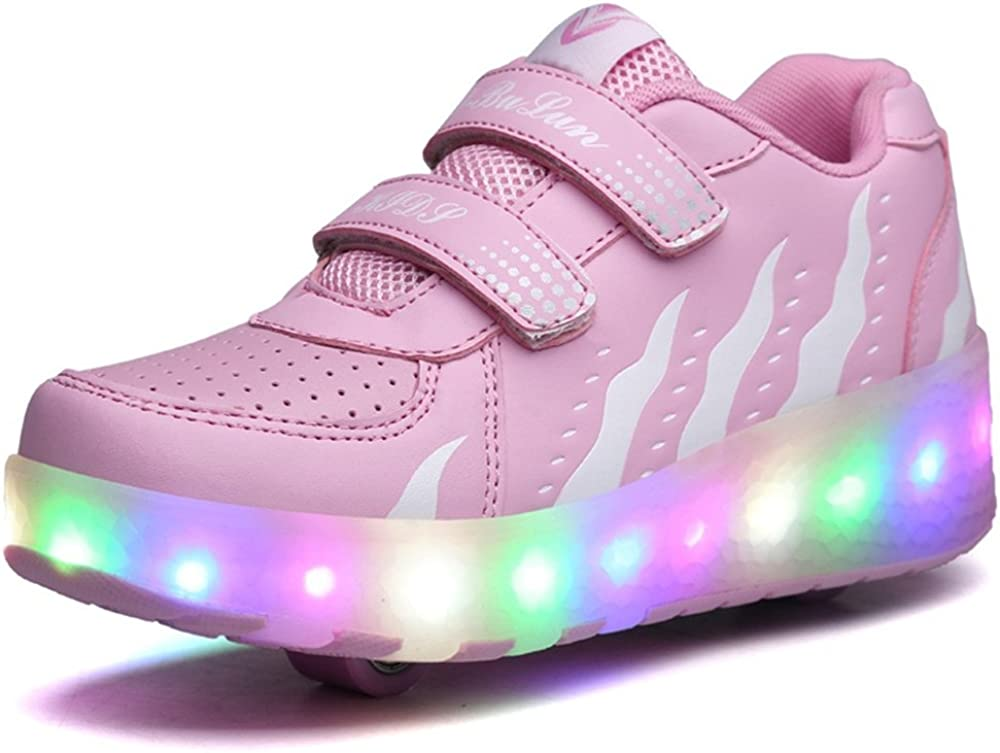 A2kmsmss5a Dance Sneakers Kids Boy and Girls High Top Led Sneakers Light Up Flashing Shoes for Halloween