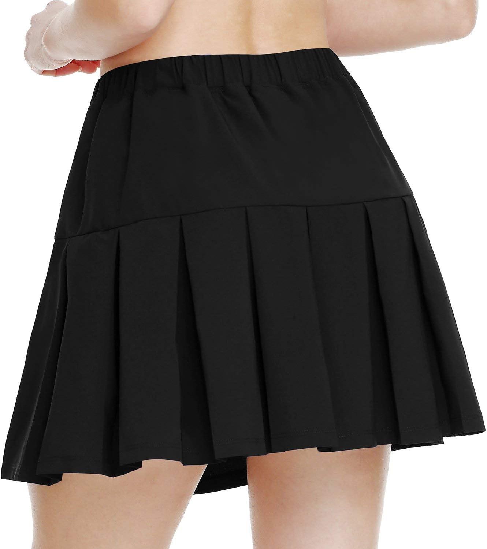 BALEAF Women's Athletic Tennis Skirt Pleated Golf Skort with Pockets for Running Lightweight : Clothing