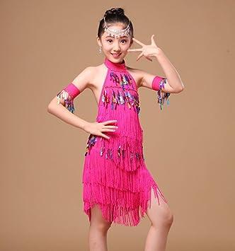 Trajes de Baile Latino para niños Borlas de Mujer Falda de ...