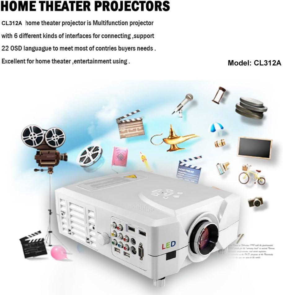 Excelvan CL312A - Proyector (800 x 600, 2200 lúmenes, USB), blanco ...
