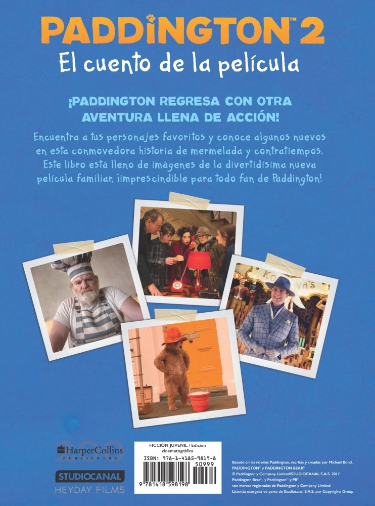 Paddington 2: El cuento de la película: Paddington Bear 2 The Movie Storybook (Spanish edition): HarperCollins Espanol: 9781418598198: Amazon.com: Books