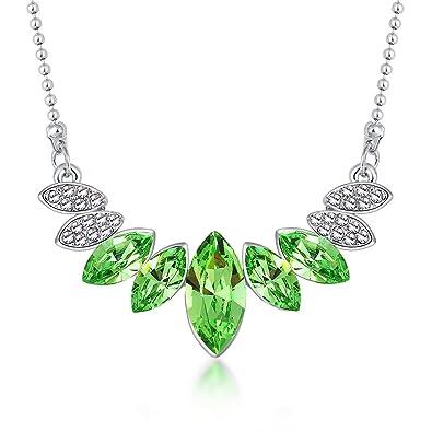 "a1ca00e2f Kissmilk ""Vanilla beauty"" Necklace Heart Pendant Birthday Gifts for  Girlfriend, Crystals from Swarovski"