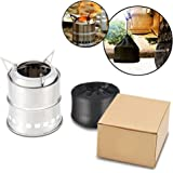 Hisea Ultralight Stainless Portable Wood Burning Backpacking Camping Stove