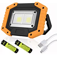 OTYTY 2 COB 30W 1500LM LED Work Light, Rechargeable Portable Waterproof LED Flood Lights for Outdoor Camping Hiking…