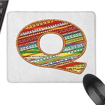 Letra Q Teclado Mousepad Resistente al Agua Colorido Retro ...