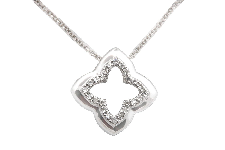 White Diamond Pendant 10k Gold Pendant Goldenstar 0.050Ct