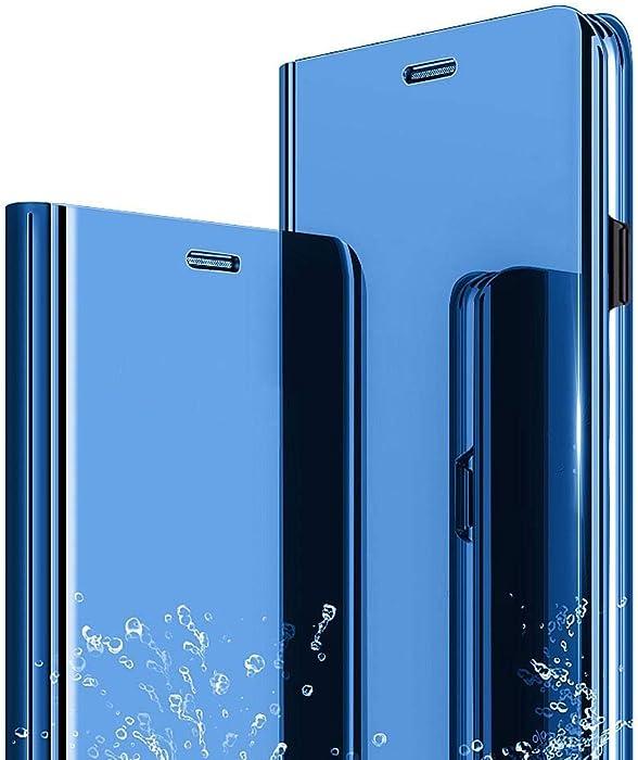 Funda iPhone 6 Plus 6S Plus, Flip Tapa Libro Carcasa - Modelo Fecha y Espejo Brillante tirón del Duro Case,Espejo Soporte Plegable en Reflectante para ...