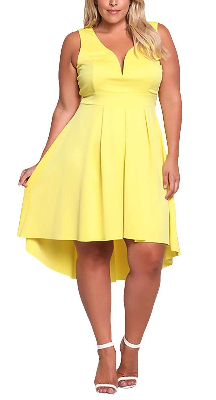 HX fashion Vestidos De Fiesta Mujer Para Gorda Moda Irregular ...