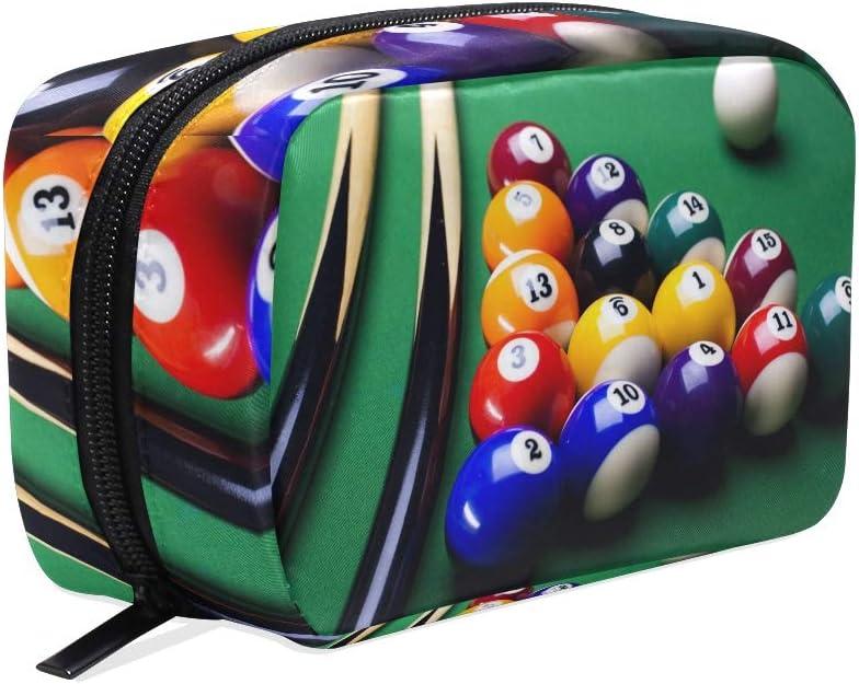 Bolsa de maquillaje, bolas de billar, bolsa de cosméticos: Amazon ...