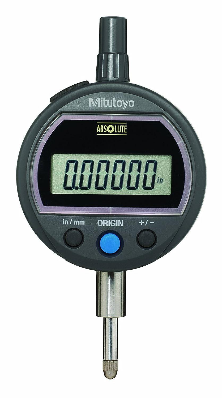 0-0.5//0-12.7mm Range Mitutoyo 543-502B Absolute Solar Digimatic Indicator 0.00005//0.001mm Resolution Flat Back