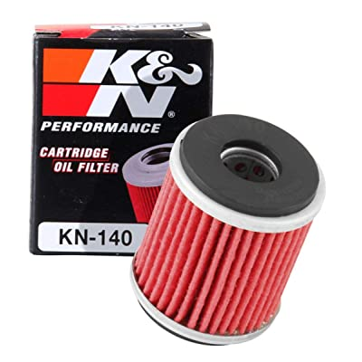 K&N Motorcycle Oil Filter: High Performance, Premium, Designed to be used with Synthetic or Conventional Oils: Fits Select Yamaha Motorcycles, KN-140: Automotive [5Bkhe1000309]