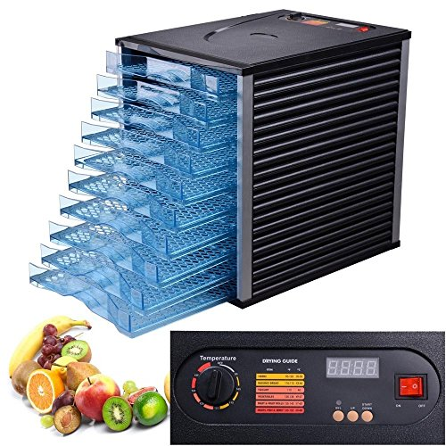 10 Tray Commercial Food Dehydrator Meat Vegetable Fruit Preserve Dryer Electric 40Hr LCD Timer 800W