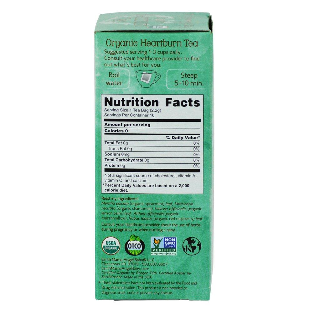 Organic Heartburn Tea for Occasional Pregnancy Heartburn, 16 Teabags/Box  (Pack of 3)