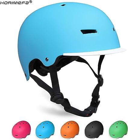 KORIMEFA Casco Bicicleta para Niños Ajustable con Certificación CE Resistencia al Impacto con Visera Extraíble para Ciclismo Monopatín Patines sobre Rueda para niños de Edad de 3-13 años: Amazon.es: Deportes y aire