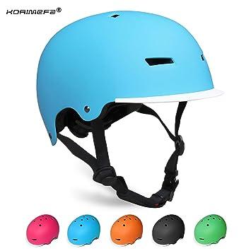 KORIMEFA Casco Bicicleta para Niños Ajustable con ...