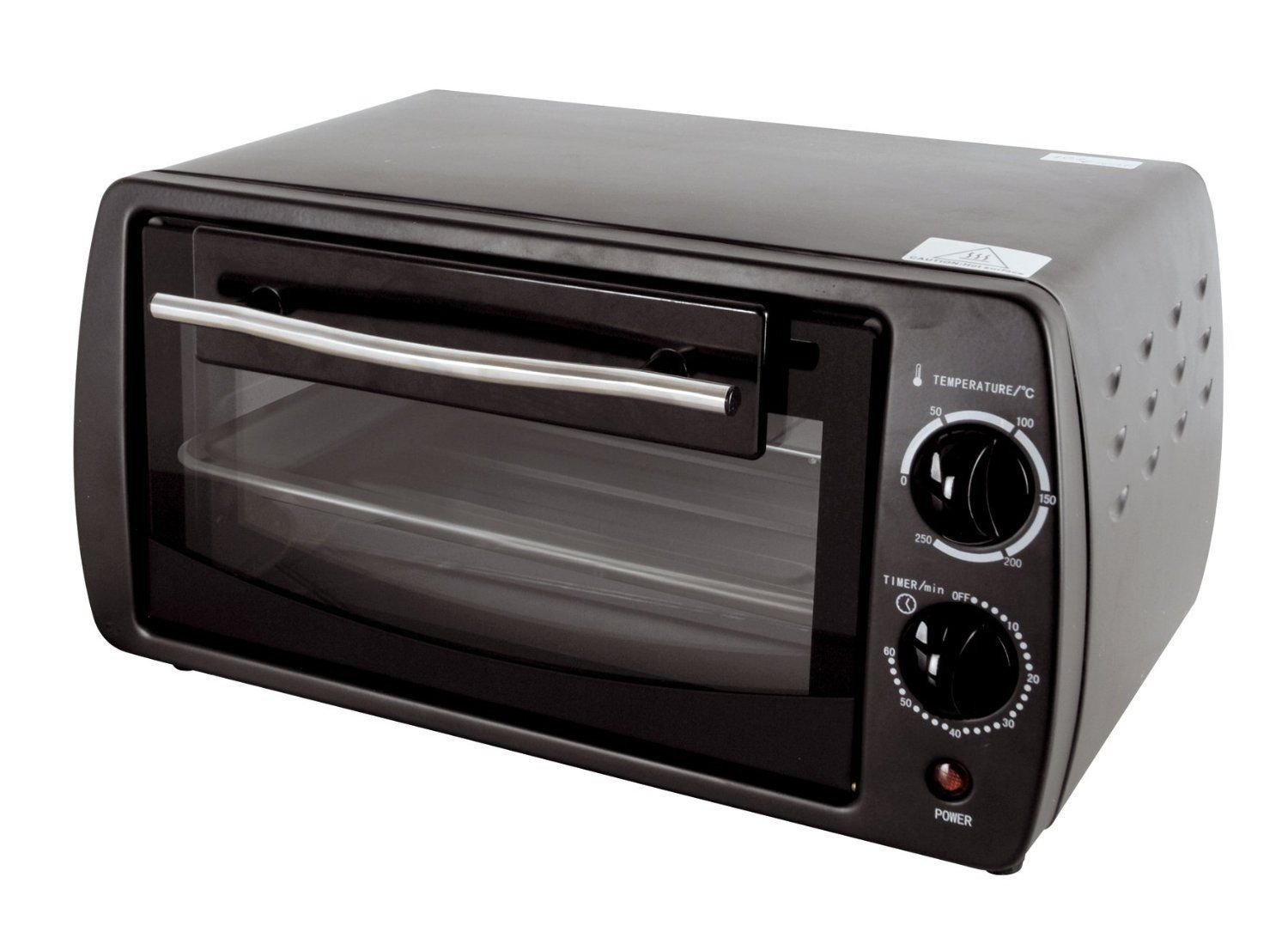 9 Ltr Mini Electric Oven Grill Toaster Black Counter Table Top Compact Caravan