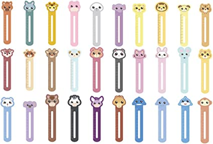 10pcs Segnalibri per bambini con righelli segnalibri di animali carini per bambini righelli di misurazione in classe per studenti segnalibri e righelli regali di compleanno per bambini colori casuali