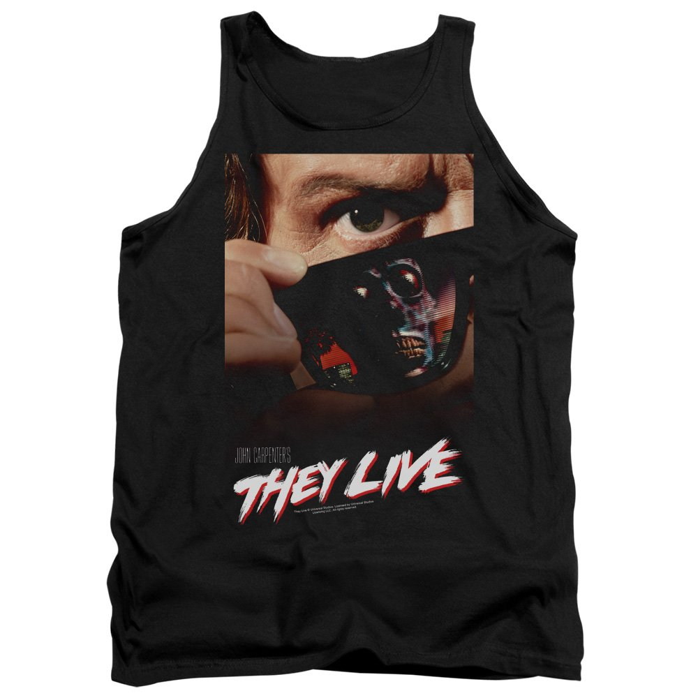 2Bhip They Live Science Fiction Horror Satire Movie Poster Adult Tank Top Shirt Trevco