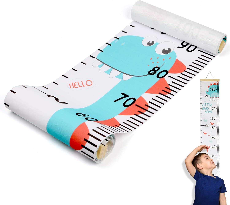 Hifot medidor altura Gráficos de crecimiento para colgar en la pared, regla para niños y niñas, decoración de la habitación infantil, Tabla de crecimiento 20 x 200 cm