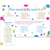 Gender Reveal Party Candy Game Pack (25 Cards) Baby Shower Guess The Stages of Pregnancy and Parenthood – Funny How Sweet Sprinkle Activity – Twins - Boy or Girl - Team Pink Blue