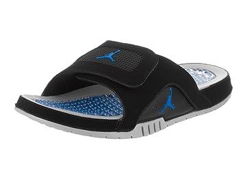 27c88d6820ef90 Nike Men s Jordan Hydro IV Retro Black Soar Matte Silver Sandal 10 Men US