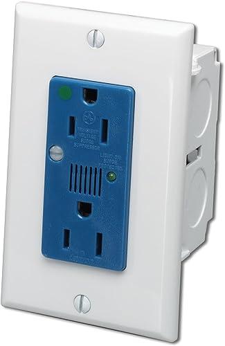 Leviton 47605-ACS J-Box Surge Protective Kit – Single AC Power Module,White Blue