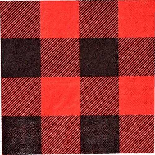 Buffalo Check Luncheon Napkins, 16-Pack, Buffalo Plaid Collection by Havercamp ()