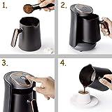 DSLE 800W Automatic Turkish Coffee Maker Machine Cordless Electric Coffee Pot Food Grade Moka Coffee Kettle for Gift…