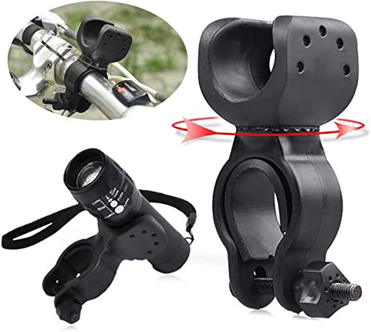360° Bicycle Bike Clip Clamp Grip Mount Holder For Bike Flashlight Torch Lamp