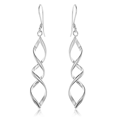 silver pearl c sterling cz genevive earrings drop shop z
