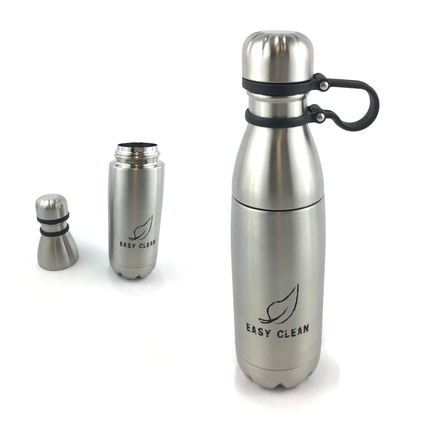 Easy Clean Water Bottle - Separates for Easy Cleaning | Dishwasher Safe | BPA Free & Eco Friendly | Insulated Stainless Steel | 17oz