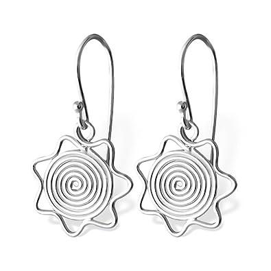 Silber Draht Sonne Schlicht Ohrringe: Royal Design: Amazon.de: Schmuck