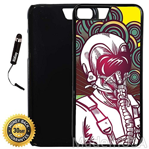 Custom iPhone 8 PLUS Case (A1152) Edge-to-Edge Plastic Black Cover with Shock and Scratch Protection | Lightweight, Ultra-Slim | Includes Stylus Pen by INNOSUB -  8P-PlBk-Gas mask-1152