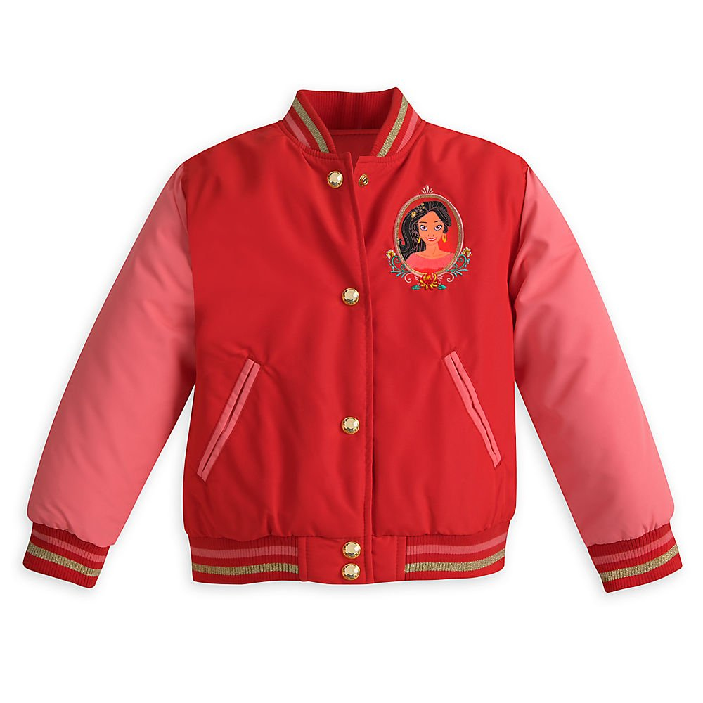 Red Disney Elena of Avalor Varsity Jacket for Girls