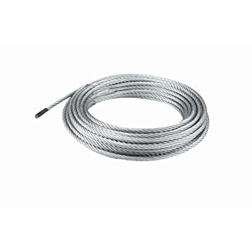 Amazon.com: 50 Feet X 1/4 Inch Aircraft Grade Wire Rope Fused End ...