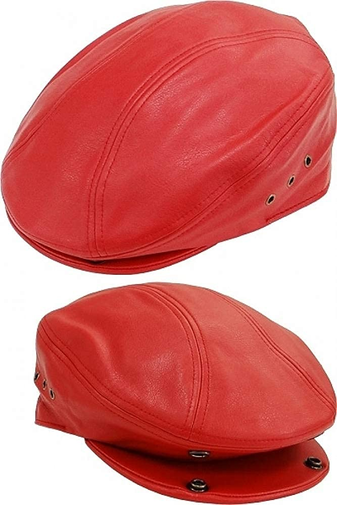 Cultural Exchange Stylish Plain PU Leather Ivy Mens Cap