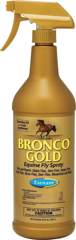 Bronco Gold Equine Fly Horse Spray, 1-qt Bottle