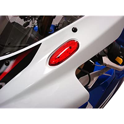 Hotbodies Racing S06GS-SIG-RED LED Blinker/Mirror Block-Off with Red Lens: Automotive