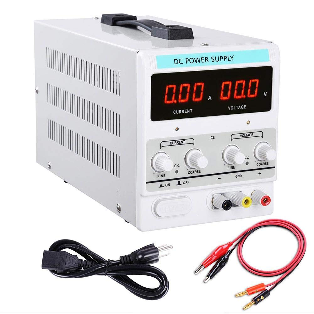 Adjustable Regulated DC Power Supply Output 30V 10A Variable Dual Display