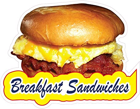 """Breakfast Specials 14/"""" Decal Egg Bacon Concession Restaurant Food Truck Sticker"""