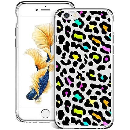 factory price d8f9f c312b Amazon.com: Leopard Print iPhone 6s 6 Case Clear, By Milostar Design ...
