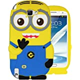 Heartly Cute Cartoon Soft Rubber Silicone Flip Bumper Best Back Case Cover For Samsung Galaxy Note 2 N7100 Double Eye