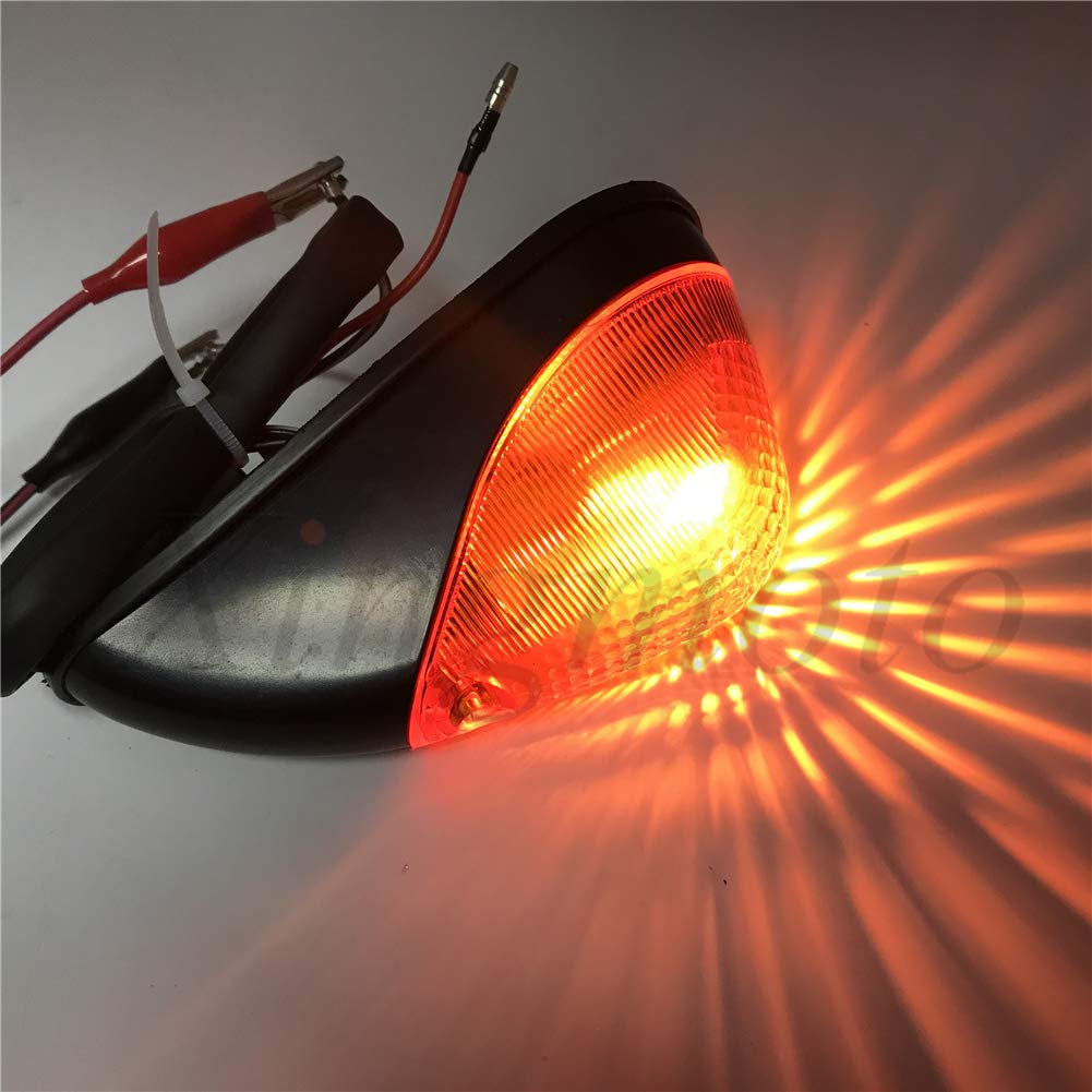 Replacement of Amber Front Turn Signals For Compatible with Kawasaki Ninja EX 250 1988-2007 2001 2002 2003 UE NBX