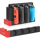 Charger for Nintendo Switch Joy-con, Charger Station Stand for Joy-Cons Accessories with LED Indication, Support to…