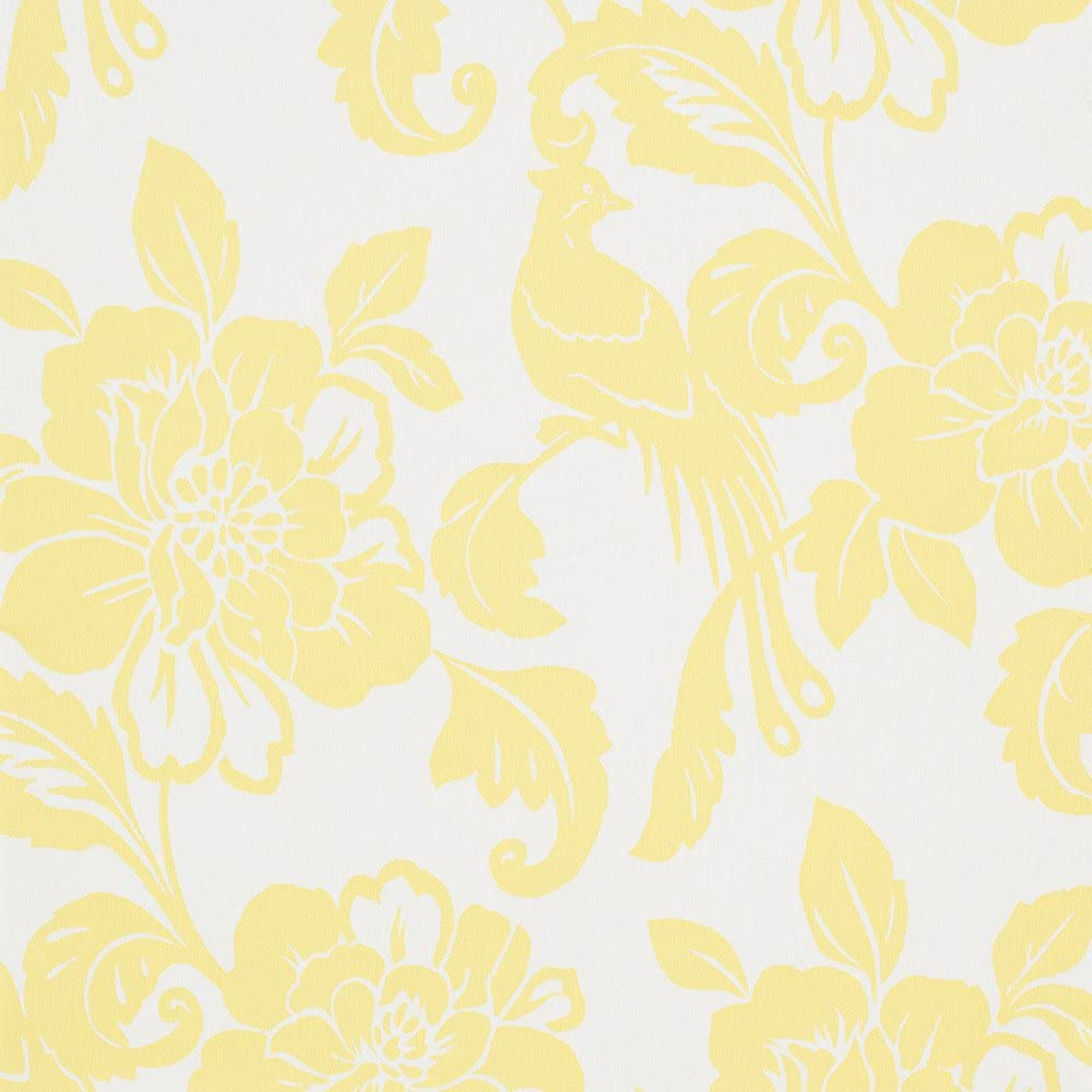 Romosa Wallcoverings Spring Garden White Yellow Floral Nature