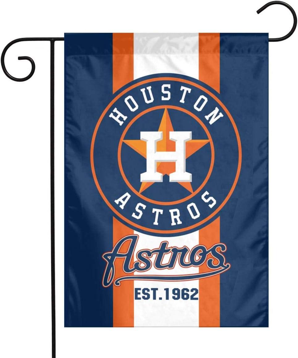Waynejunior Houston Garden Flag Baseball Yard Flag 12 x 18 Inches Oxford Fabric Double-Sided Printing Indoor Banner