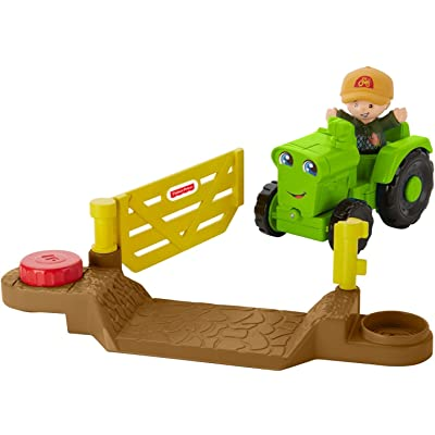 Fisher-Price Little People Vehicle Tractor, Small: Toys & Games