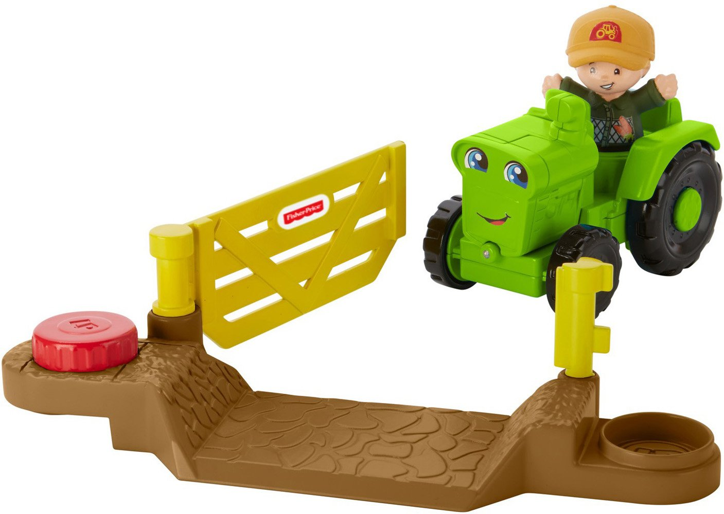 Fisher-Price Little People Traktor Small Vehicle Vert 4 pièces DWC32
