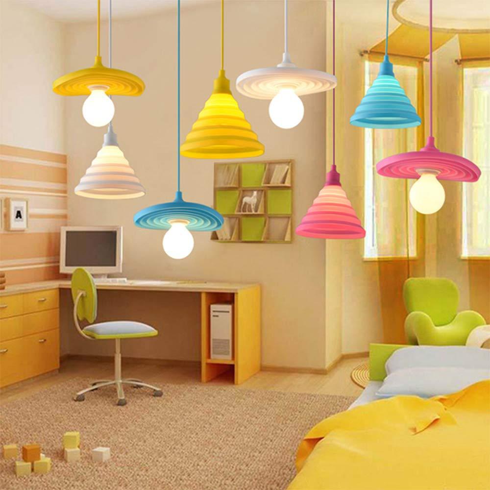 Amazon.com: Lámpara colgante de silicona moderna para el ...