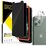 [2+2 Pack] BAZO Compatible with iPhone 11 Pro Max (6.5 inch) Privacy Screen Protector and Tempered Glass Camera Lens Protecto